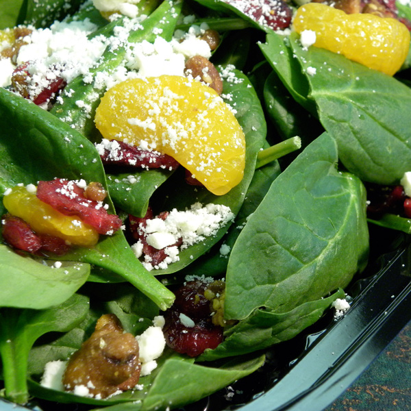 cranberry-spinach
